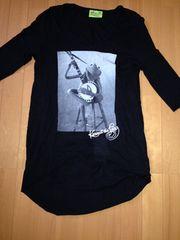 スライ七分袖黒