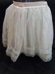 ふんわりシルエットが可愛い リズリサ ラメレースフレアスカート クリーム色 新品