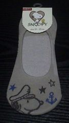 新品 SNOOPY 靴下(23〜25�p)ベージュ系
