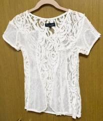 マーキュリーlux*レースTシャツ サイズF