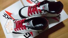 送料込☆グロウキックス安全靴【耐油、白】26.5cm