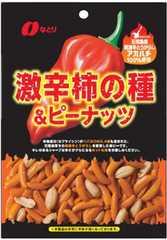 激辛柿の種&ピーナッツ 60g×10袋