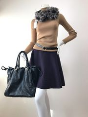 Mサイズ【ミッシェルクラン】ニット素材♪フレアスカート