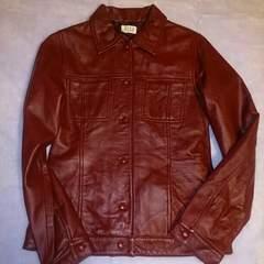 ELLE*ボルドー羊革ジャケット