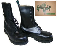 ゲッタグリップおでこ靴10ホール ブーツ新品7510BLスチール入uk5