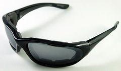 バイカーズシェイド�V・黒×グレー新品/ブラックサングラス