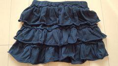 【新品】skipland(スキップランド)★100�p黒色フリルスカート