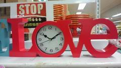 置き時計 インテリアクロック LOVE RD