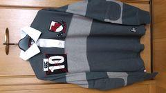 訳あり激安76%オフカンタベリー、ラクビー、長袖ポロシャツ(新品タグ、灰、L)