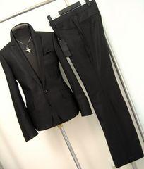 647■新品LLトルネードマートスーツ黒 シャドーストライプ