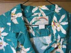PARADISE FOUND アロハシャツ 緑 XL
