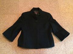 ☆ジャスグリッティー/でかボタン立ち襟ジャケットコート/黒結婚式☆
