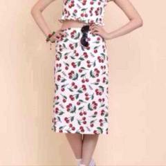 katie ROCKA CHERRIES pencil skirt AMO RISA �P�C�e�B