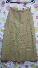 訳ありフランス製ウール100%タイトスカート(W60�p)ベージュ