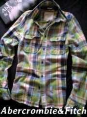 【Abercrombie&Fitch】最高峰 Vintage 厚手フランネルシャツ XXL/Green