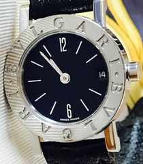良品ブルガリブルガリBB23SLDレディース時計革ベルト専用箱付き
