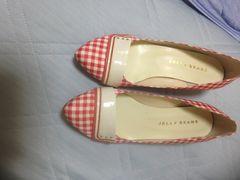 新品未使用タグなしギンガムチェックの靴