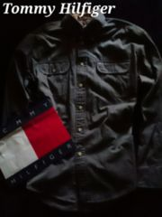 【Tommy Hilfiger】Vintage Washed ボタンダウンシャツ L/ヘリンボーン織