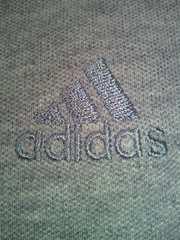 adidas アディダス シンプル デサイン 袖短め ポロシャツ シャツ グレー OTサイズ