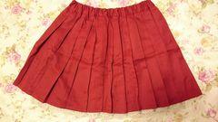 ◆大きいサイズ◆個性派ガーリーちゃん☆赤プリーツレーススカート☆