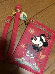 TDL購入!クリスマスミニー パスケース 未使用!