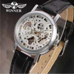 """本物志向の機械式★""""Winner""""スケルトン紳士用腕時計"""