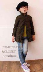 COMECHATTO&CLOSET*完売vintageウールステンカラーコート130