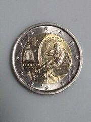 イタリア 2006年トリノオリンピック記念 2ユーロ硬貨 流通品