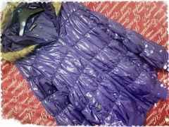 4L・ファー付シャーリングフェイクダウンJKT 新品紫/MC01P-412s