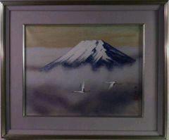 絵画 日本画 五十川昇乗『富士』真作保証