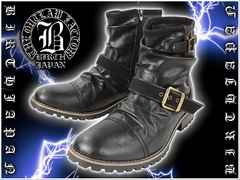 オラオラ系悪羅悪羅系ヤクザヤカラグ/ホスト&メンナク系ブーツ/靴0624黒-26.0