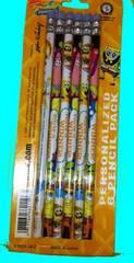 $●#スポンジボブの 消しゴム付鉛筆 6本セット