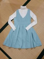 ☆titty&co☆ワンピ&タートルset☆新品タグ付☆人気のブルー☆