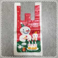 ■クリスマス■レジ袋(小)雪だるま30枚