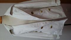 ギャル系 でか金ボタン コート ホワイト