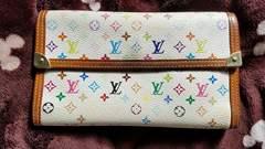 正規鑑定済みモノグラムカラーキャンパスルイヴィトン財布