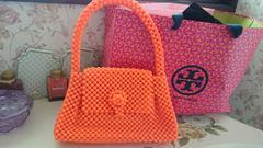 オレンジ新品ビーズバッグ☆sweet雑誌掲載紗栄子