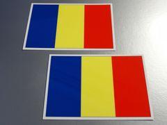■ルーマニア国旗ステッカー2枚セット■シール即買!