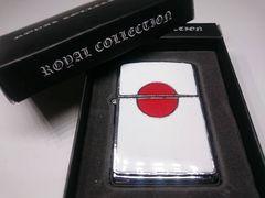 オイルライター japan 日本 国旗 日の丸 シルバー (ZIPPO ジッポ