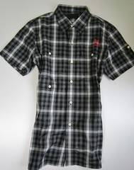 コールブラック 半袖チェックネルシャツ EXILE