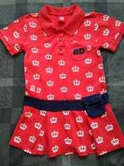 BABY DOLL☆赤のワンピ 100
