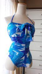CECIL…胸元リボン&シャーリングのワンピ水着☆3点で即落☆