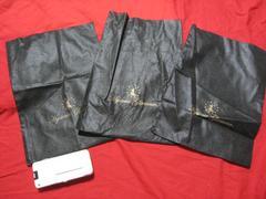 ヒスグラ ヒステリックグラマー ミニ袋ポーチ ブラック 3枚セット 未使用
