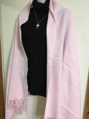 ★ピンク大判ストール★