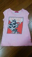 ヒステリックミニ★ミニちゃんプリント入ピンクのワンピース★80