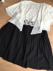 新品 上品シフォン生地黒プリーツスカート大きい 4L5L