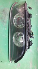 5シリーズE39後期純正HIDイカリングヘッドライト右カプラーオンポン付即決送料無料