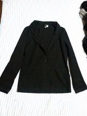 H&M★ジャケット 黒38