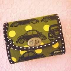 レトロな車♪ミニ財布*ハンドメイド