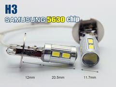 12V専用Samsung5630製LED H3 10連プロジェクターレンズ付2個